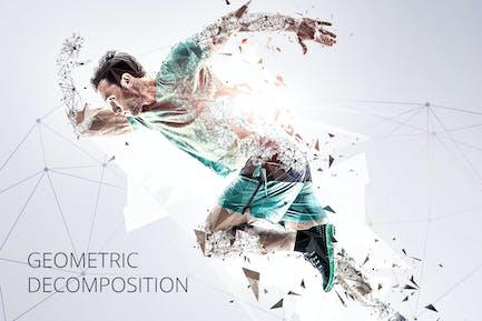 Geometric Decomposition Photoshop Action