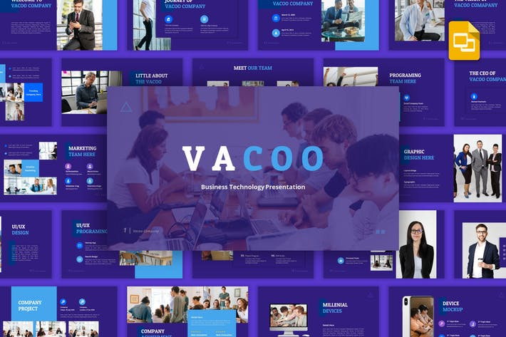 Thumbnail for Vacoo - Business Technology Google Slides Template