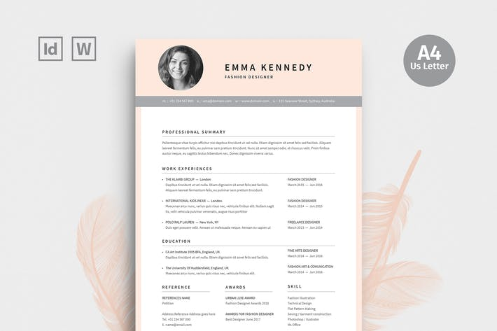 Thumbnail for Fashion Designer Resume