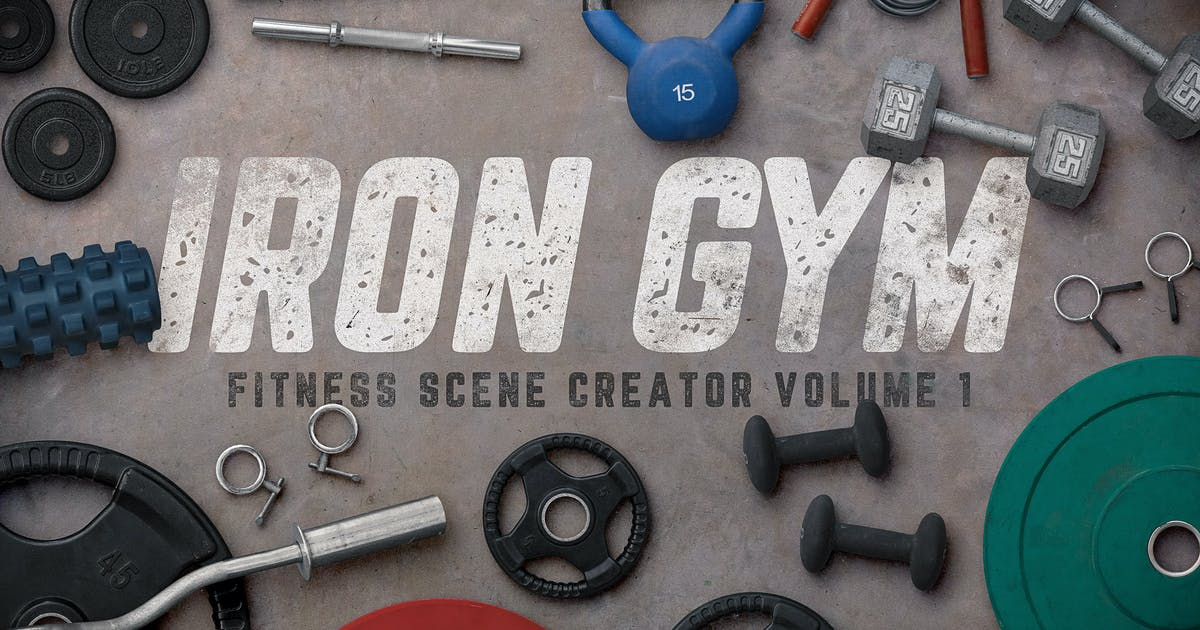 Download Iron Gym Scene Creator Volume 1 by DesignPanoply
