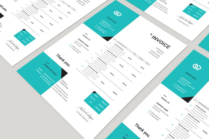 Thumbnail for Creative Invoice Template 06