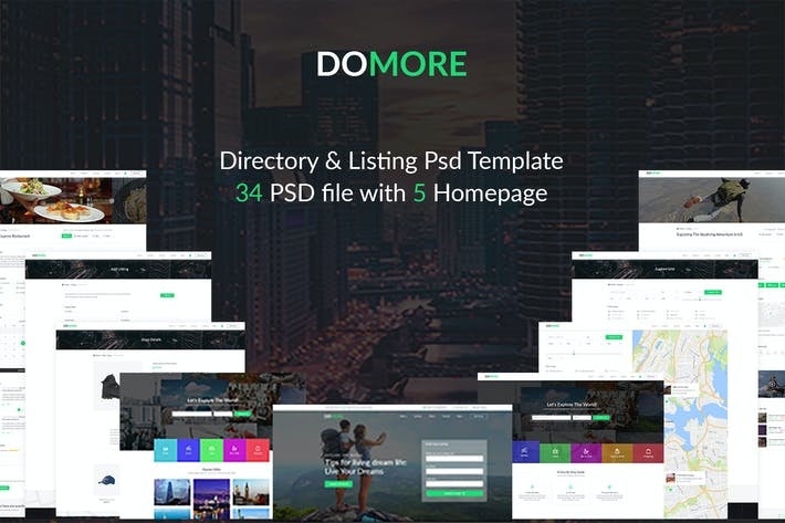 Cover Image For DoMore | Directory & Listing PSD Template