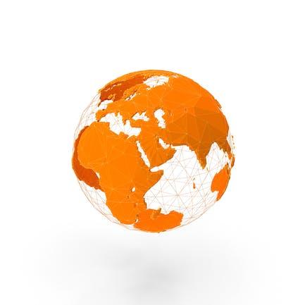 Wire Modell der Erde