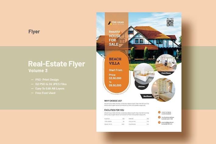 Thumbnail for Real-Estate Flyer Template V-3