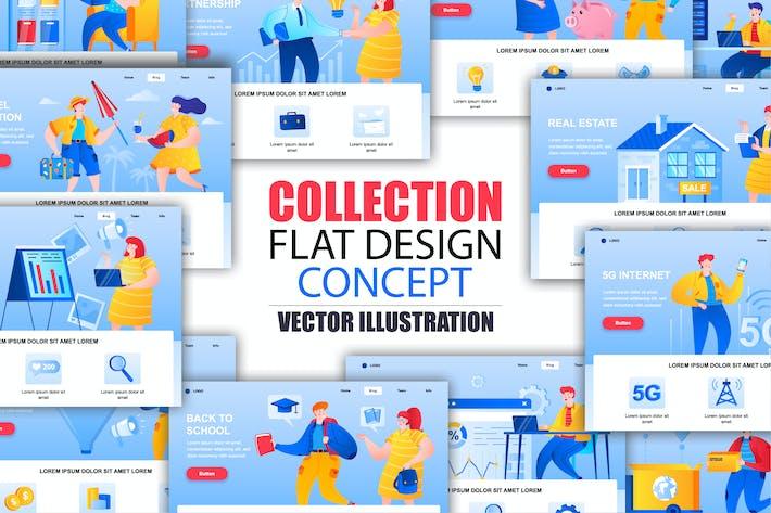 Thumbnail for Modèle de page de destination de collection avec les personnes