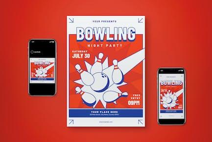 Bowling Flyer Set