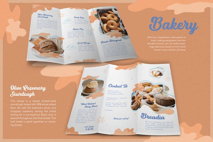 Abstract Colorful Bakery - Brochure