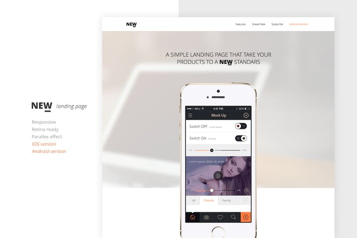 Cover Image For NEW Retina Ready App Landing Page