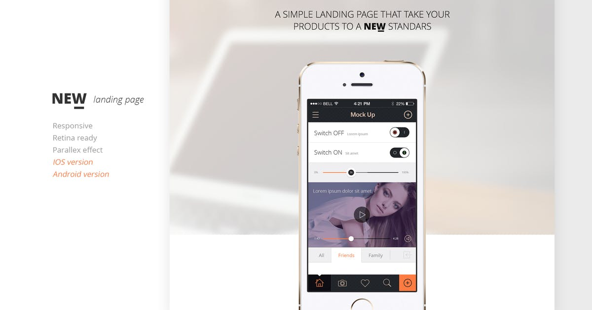 Download NEW Retina Ready App Landing Page by mutationthemes