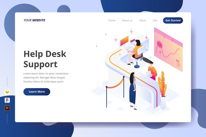 Thumbnail for Help Desk Support - Landing Page