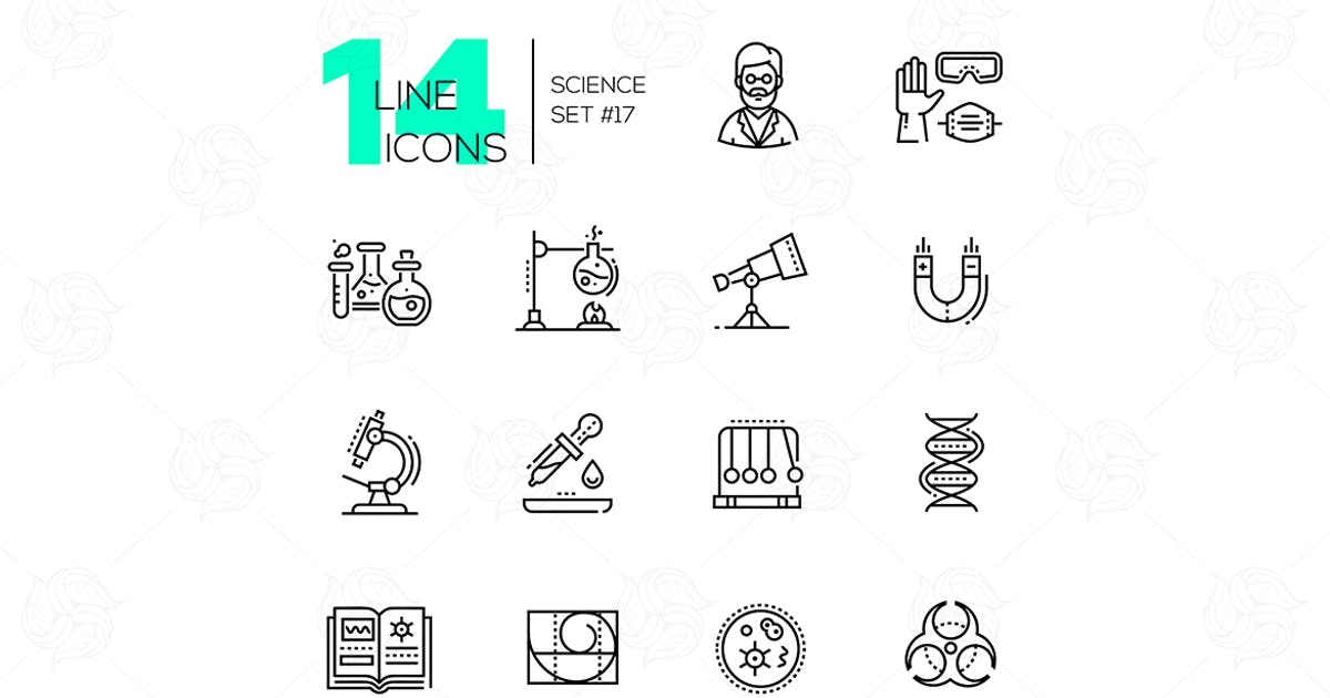 Download Science - modern single line icons set by BoykoPictures