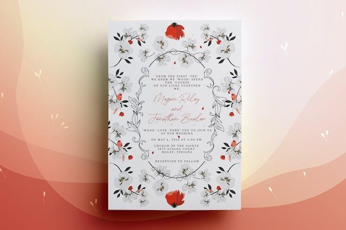 Thumbnail for Carte d'invitation de mariage vintage ornementale