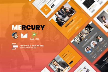Mercury - Responsive Email Template for Startups