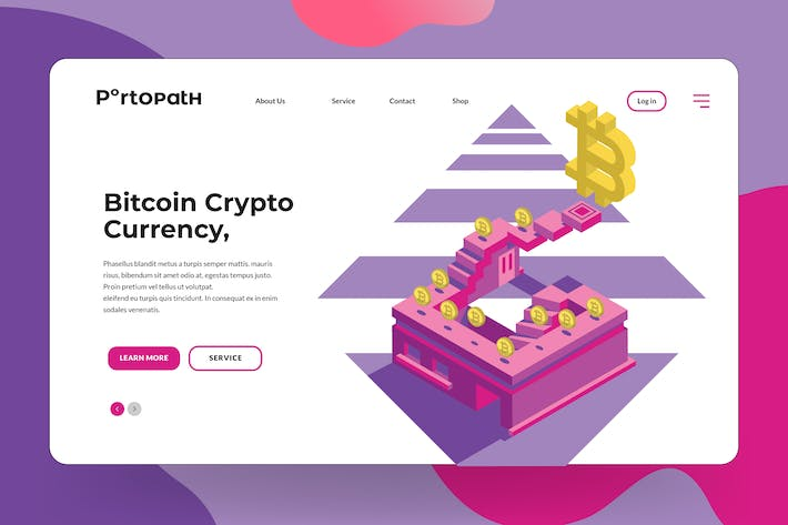 Thumbnail for Bitcoin Currency Banner & Landing Page Vector