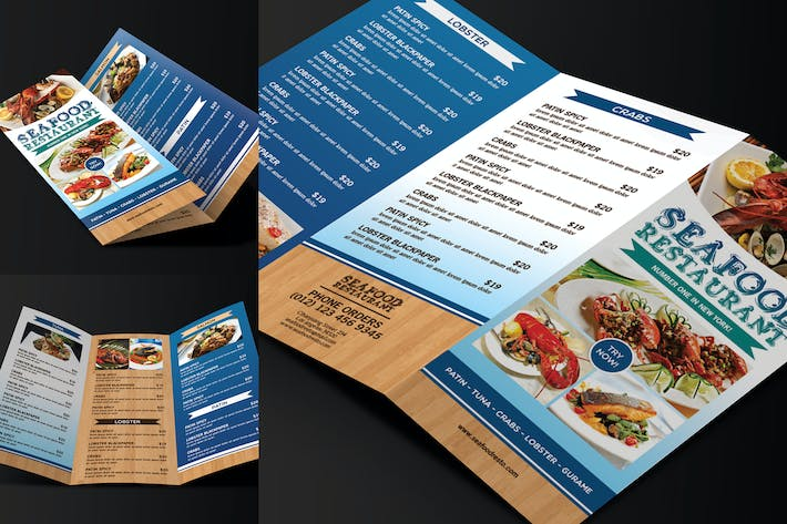 Thumbnail for Trifold Seafood Menu