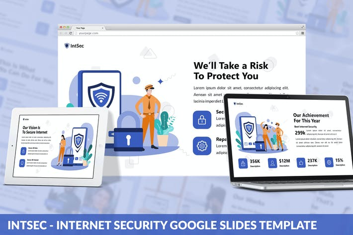 Thumbnail for Intsec - Internet Security Google Slides Template