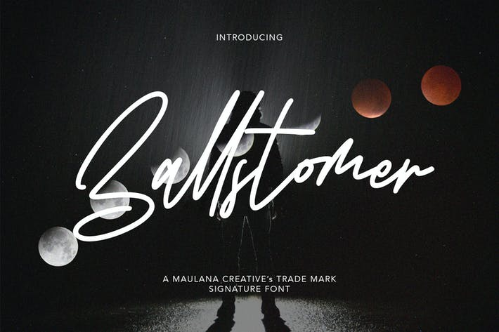 Ballstomer Signature Font