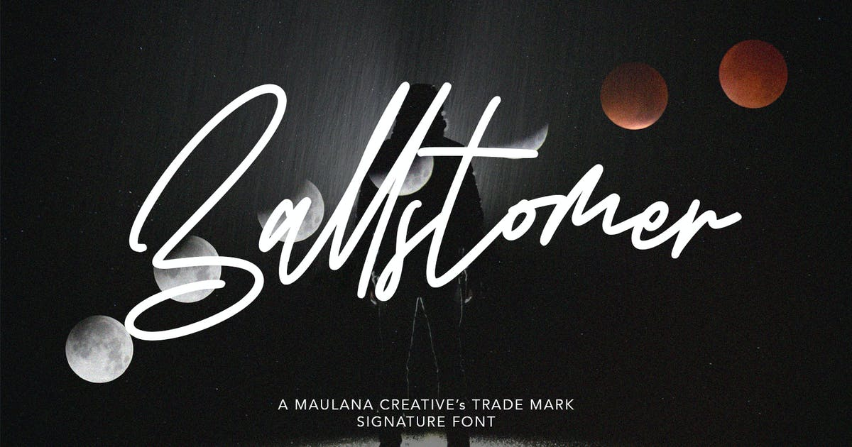 Download Ballstomer Signature Font by maulanacreative
