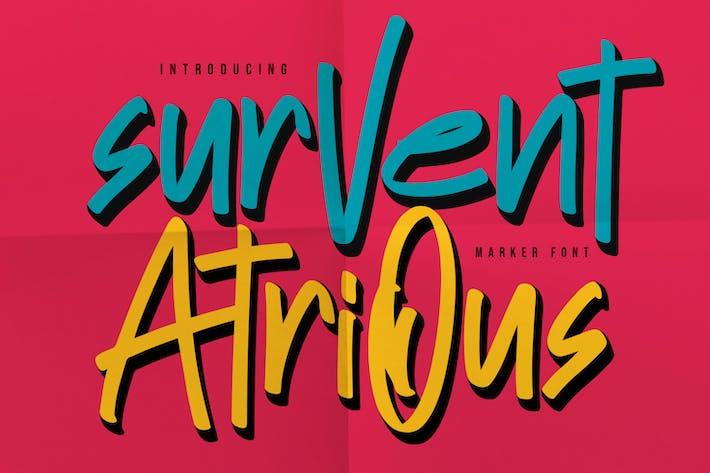 Thumbnail for Survent Atrious - Marcador de fuente
