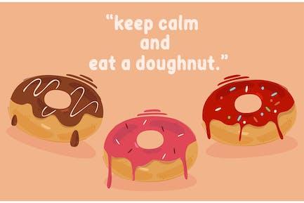 Geschmolzene Donut-Illustration