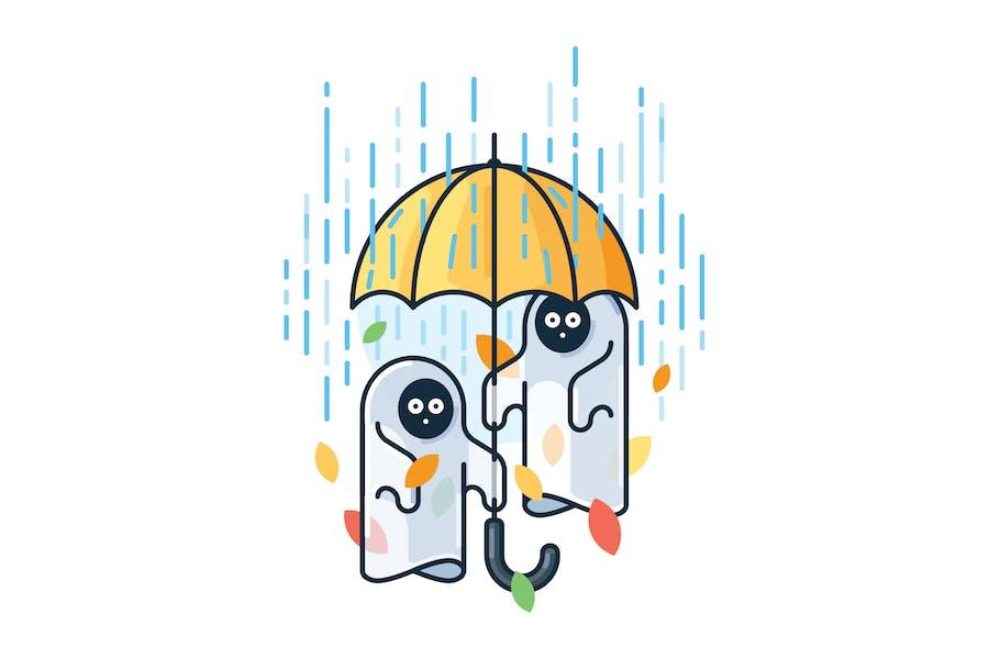 Geister im Regen