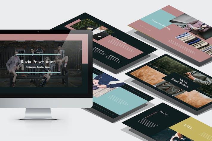 Thumbnail for Ruzia : Luxury Fashion Keynote