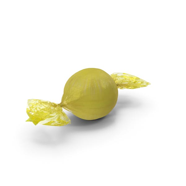 Thumbnail for Wrapped Yellow Spherical Candy