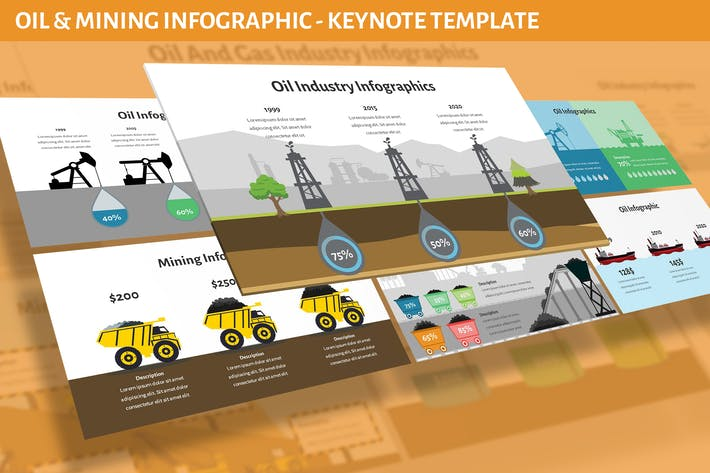 Oil and Mining Infographic for Keynote