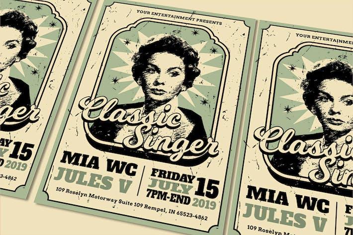 Thumbnail for classic singer Flyer