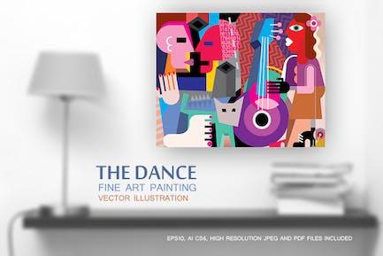 The Dance vector fine art painting