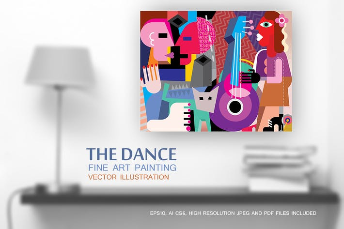Thumbnail for The Dance vector fine art painting