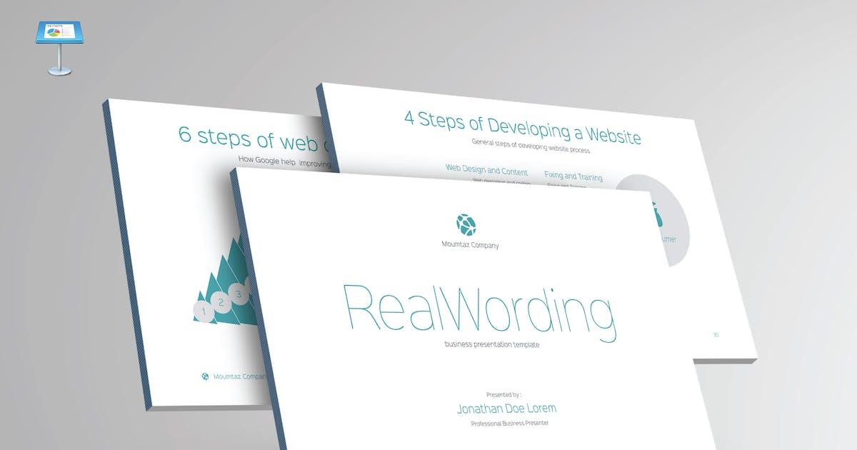 Download REAL WORDING - Multipurpose Keynote Template V22 by Shafura