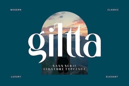 giltta Sans Serif Font