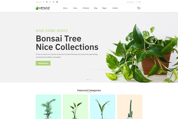 Thumbnail for Vesoz - Plants And Nursery Shopify Theme