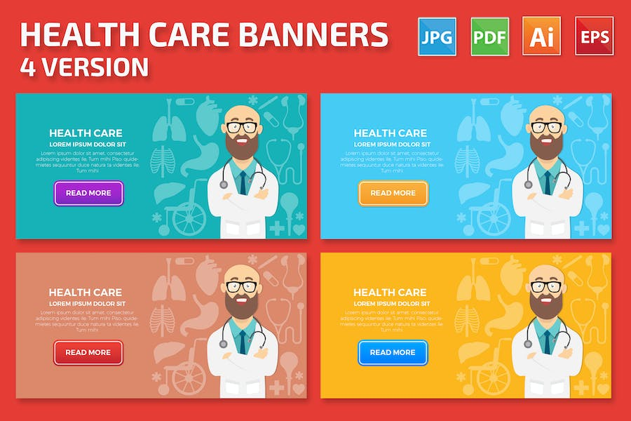 Health Care Banners Design