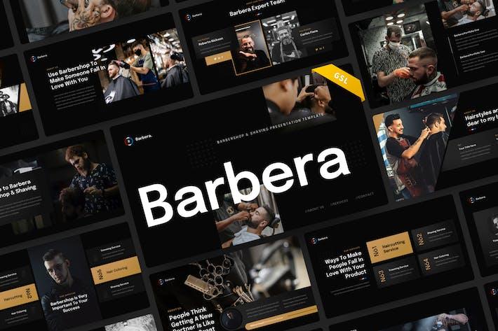 Barbera - Barbershop & Shaving Google Slides