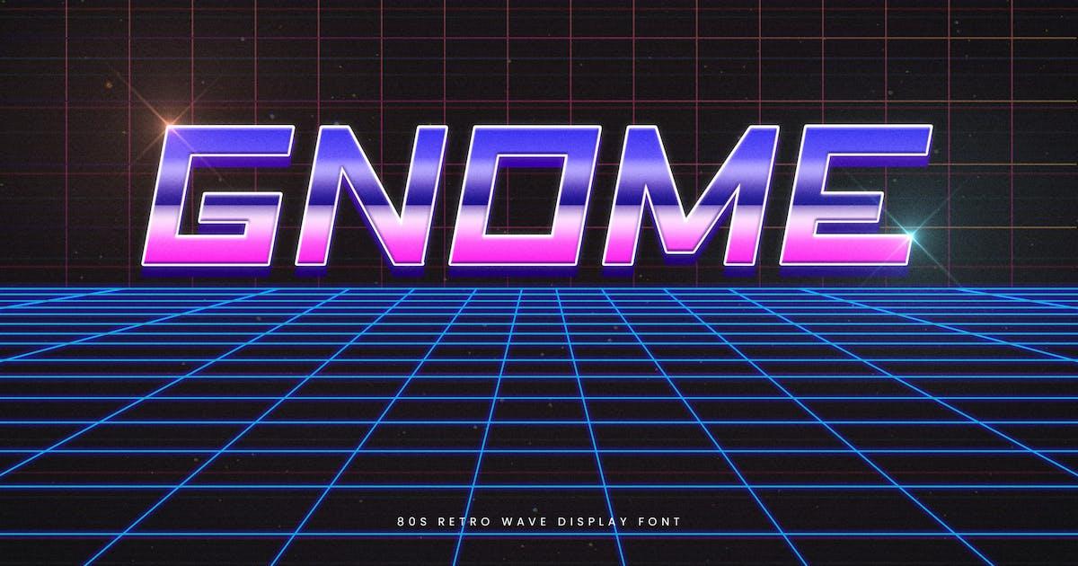 Download Gnome - Retro Wave Typeface by naulicrea