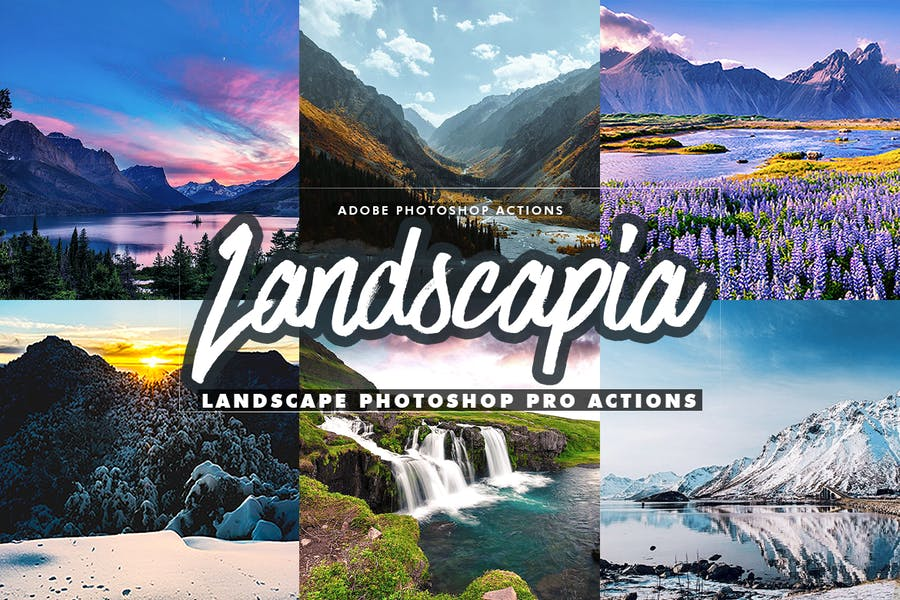 Landscapia Photoshop PRO Actions