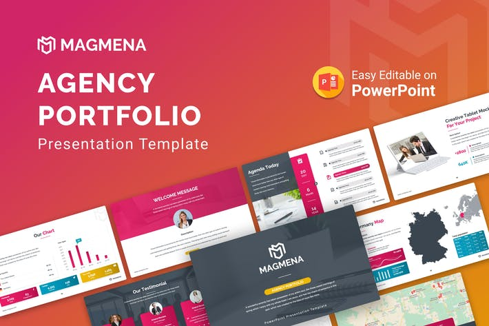 Thumbnail for Magmena — Портфолио Агентство PowerPoint Презентация