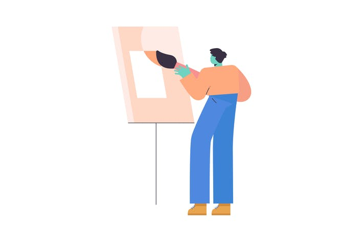 Thumbnail for Gemälde flache Illustration