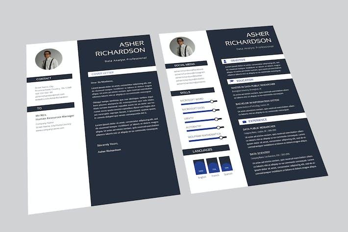 Thumbnail for Asher Data Analyst Resume Designer