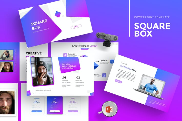 Thumbnail for SquareBox - Powerpoint Template