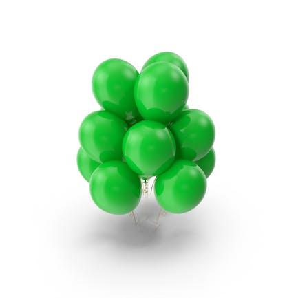 Grüne Luftballons