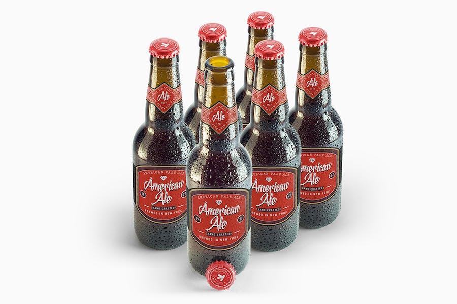 Bier Amber Flasche Mockup