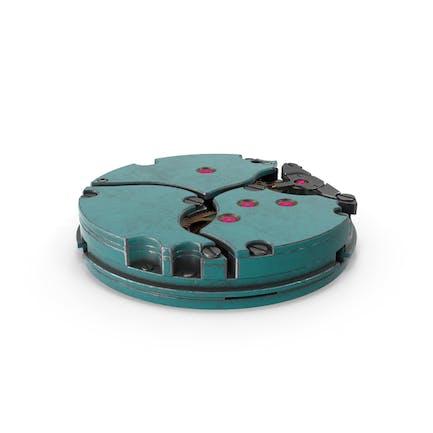 Mecanismo Reloj Azul Metal Sucio