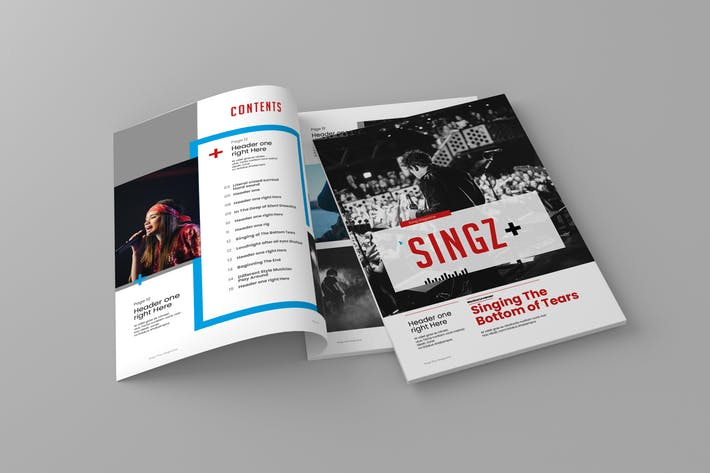 Thumbnail for Singzplus - Magazine Template