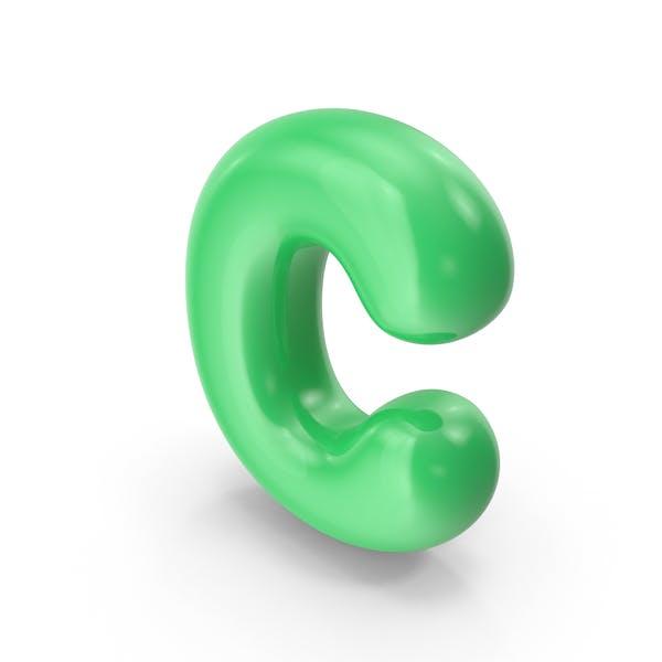 Grüner Toon-Ballonbuchstabe C