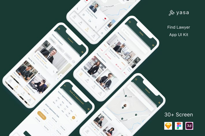 Thumbnail for Yasa - Find Lawyer App UI Kit