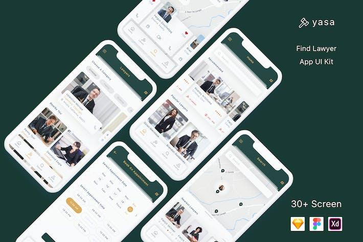 Yasa - Find Lawyer App UI Kit