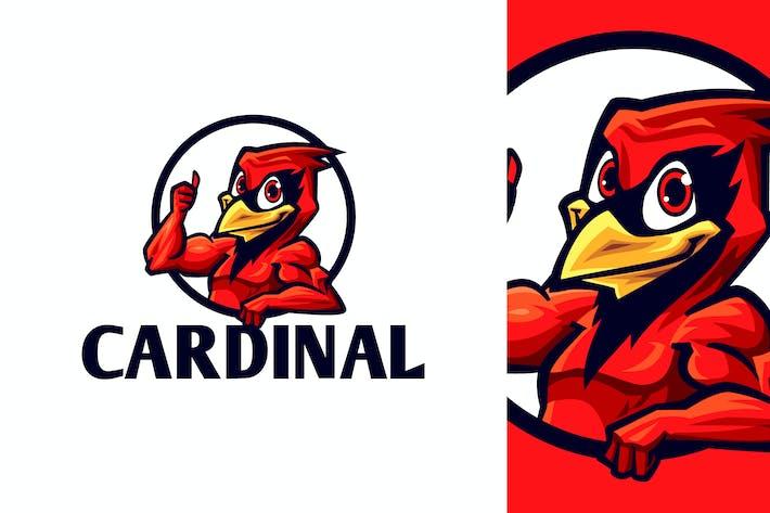 Thumbnail for Cartoon Cardinal Bird Mascot Logo